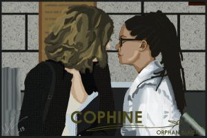 Cophine Kiss in Orphan black by HeatherFinch