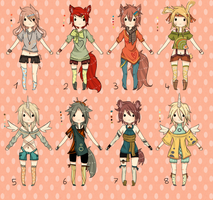.:Adoptables Mixed Set - CLOSED:. by Chi-Adopts-Yo