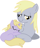 Dinky and Derpy by BloodEy3