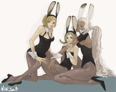 Ivalice Bunnies by howdoyoulikeit