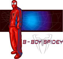 b-boy spidey by funkydoodler