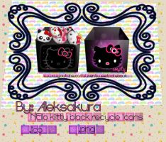 Recycle bin icon hello kitty black by AlekSakura