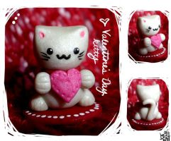figure : valentine's kitty by kumquatgirl