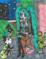 Miku and Her Musical Pokemon by Millie-the-Cat7