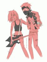 AU Rockstar and Groupie by neonanything