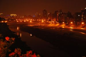 River at night by cathyss02