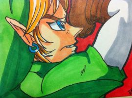 LoZ OoT Adult Link ACEO by kawaiidchan