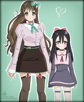 .:Lovely Sisters:. by Nezusagi