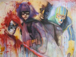 kick-ass watercolor For sale by oswalddent