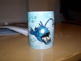 Angler Fish Mug by Pherrett