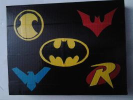 Bat Family Duct Tape by FreakyDitz