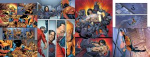 DeathStroke 14 and 18 fill in pages by spidermanfan2099