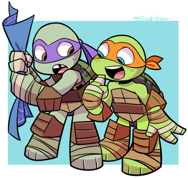 Donnie and Mikey by SakikoAmana