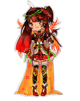 Extra chibi - Mystery Flaming Rose by maributt