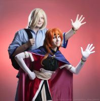 Lina and Gourry - Slayers novels vol 15 cos by GreatQueenLina