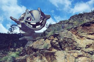 Wild Steelix on the mountain by Ninja-Jamal