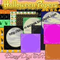 Bizee Halloween papers only..no alphas included by Bizee1