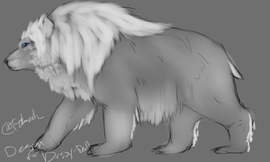 King bear Design species by Allixi