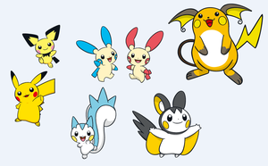 Pokemon Electric Rodents by BlazingSoul96