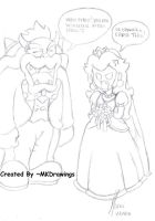 Bowser and peach are Marrying? by MKDrawings