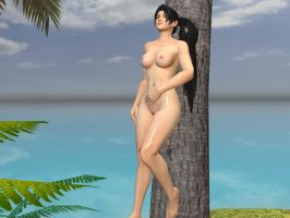Momiji DOA5 beach Nude by Joe12334