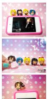 Chibi Sailor Moon Cellphone Plugs by SentimentalDolliez