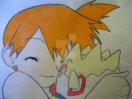 Misty and Togepi hugging by AJLeefan4life