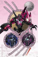 TF TOTF Arcee alt cover by markerguru