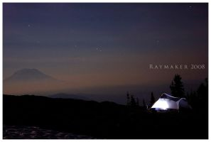 Tent in the Moonlight by Raymaker