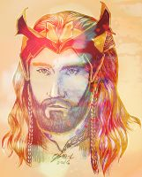 Thorin - Gold And Blue by Miruna-Lavinia