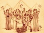 3- The Weasley Family in Egypt by Ottowl