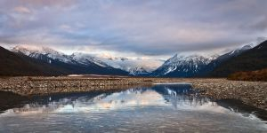Waimakariri River Panoramic by Niv24