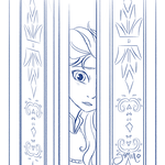 Elsa at the Door by Yamino