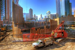 Chicago Spire digging basement by spudart