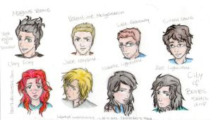 Mortal Instruments Character Page by lauu7