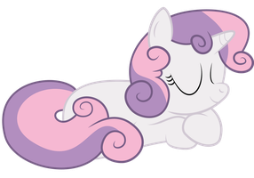 Sweetie Belle Snooze by MrFoxington
