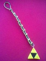 Triforce Cellphone Charm by LindseyDunno