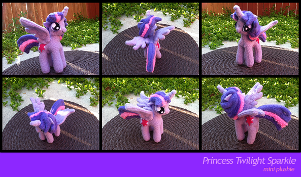 Mini Princess Twilight Plushie (Gift) by PetrucciosPlushies