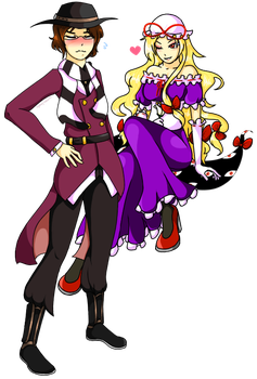 Commission - Unknown Nobody and Yukari by Sydney-chan101