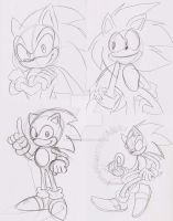 Sonic Sonic Sonic and Sonic by ThePandamis