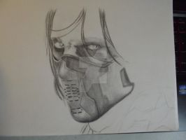 Sebastian Stan as the Winter Soldier WIP 2 by EmmySalvatore
