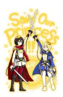 [Fanart Attack on Titan] Save Princesses!! by Firodendon