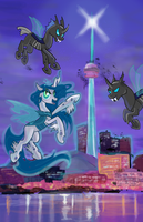 Queen Volucris Takes CN Tower! by Sophillia