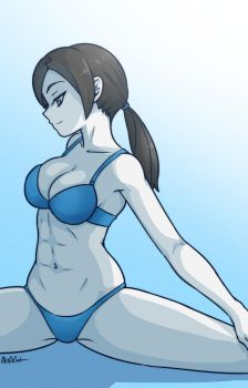 wii fit trainer by akairiot