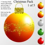 Christmas stock 1 of 5 - balls by Hermit-stock