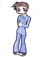 Chibi 10th doctor by Danielle-chan