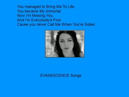 EVANESCENCE SONGS!! by AmberJad3S3xt0n