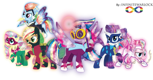 Rainbow Power Crystal Ponies by InfiniteWarlock