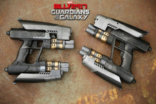 guardians of the galaxy star lord blasters by billy2917