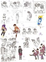 SKETCH DUMP 2013 by emichii